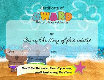 Motivational Awards for  Kindergarten