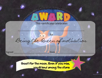 Motivational Awards for  Kindergarten