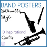 Motivational Band Posters with Silhouette Instruments
