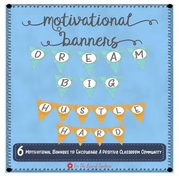 Motivational Banners (Print Font)
