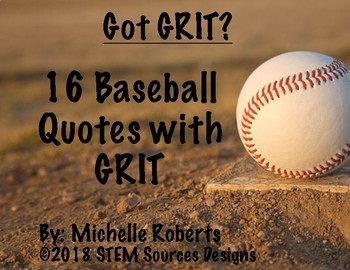 Motivational Baseball Quotes with GRIT