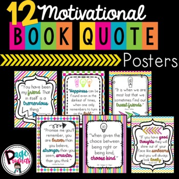 Motivational Book Quote Posters
