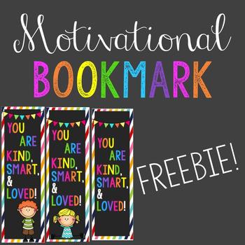 Motivational Bookmark FREEBIE!