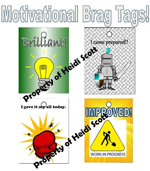Motivational Brag Tags