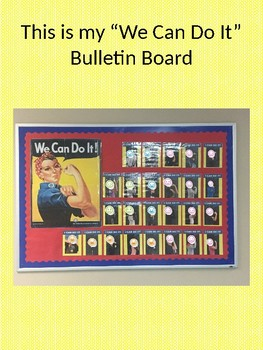 Motivational Bulletin Board, Testing Bulletin Board, Rosie the Riveter