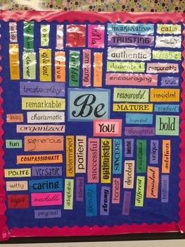 Motivational Bulletin Board - Be You!