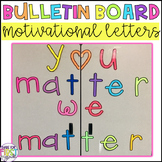 Motivational Bulletin Board Letters: Heart Font