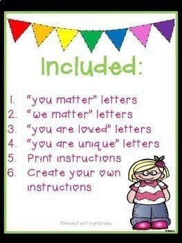 Motivational Bulletin Board Letters: Heart Font