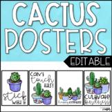 Cactus Decor: Motivational Posters