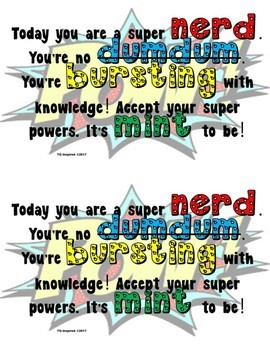 Motivational Candy Cards
