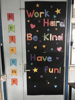 Motivational Classroom Door Display