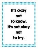 Motivational Classroom Poster