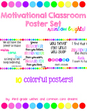Positive Motivation Classroom Poster Set
