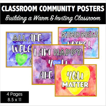 Classroom Community Posters