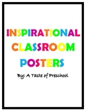 Motivational Classroom Posters - Bright/Neon Colors