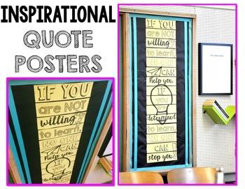 Motivational Classroom Posters – Classroom Decor Motivational Posters