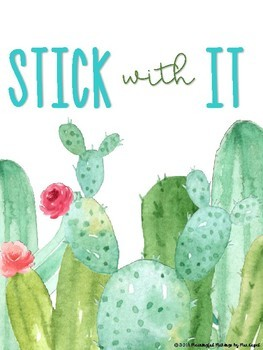 Motivational Classroom Posters; Succulent Floral Theme