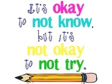 Motivational Classroom Sign