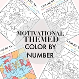 Motivational Color By Numbers By Taracotta Sunrise