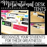 Motivational Desk Tents {Desk Awards}