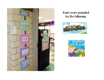 Motivational Door Decor/Classroom Decoration Polka Dot
