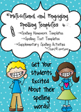 Spelling Templates-Motivational & Engaging for Grades K-3