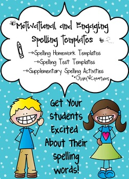 Spelling Templates-Motivational & Engaging for Grades K-3