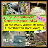 Motivational/Growth-Mindset ABCs Posters for Classrooms or