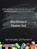Motivational, Growth Mindset Posters for Students Blackboa