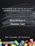 Motivational, Growth Mindset Posters for Teachers Blackboa