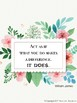 Motivational, Growth Mindset Posters for Teachers Floral Theme