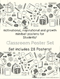 Motivational Growth Mindset Posters for Students School Th