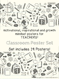 Motivational Growth Mindset Posters for Teachers School Th