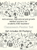Motivational Growth Mindset Posters for Teachers & Student