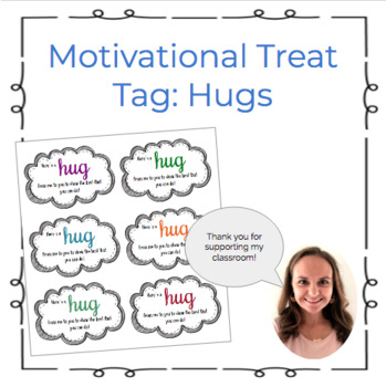 Motivational Hershey Hug Treat Tag