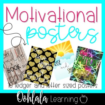 Motivational Idioms Poster Set