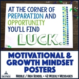 Motivational Growth Mindset, Kindness, & Goal Setting Posters