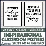 Motivational Growth Mindset, Kindness, & Goal Setting Posters