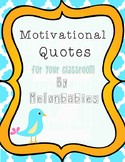 Motivational / Inspirational Poster Set - Bird theme