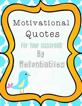 Motivational / Inspirational Poster Set - Bird theme