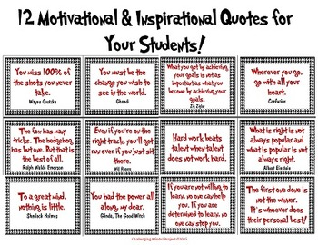 Motivational & Inspirational Quotes for the Classroom