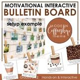 Growth Mindset Interactive Bulletin Board: COFFEE SHOP THEME Classroom Decor