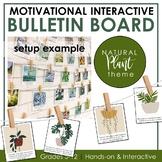 Growth Mindset Interactive Bulletin Board: HOUSE PLANTS Theme Classroom Decor