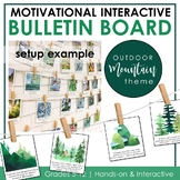 Growth Mindset Interactive Bulletin Board: MOUNTAIN Theme Classroom Decor