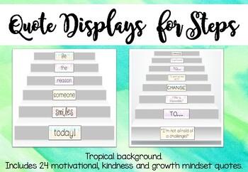 Motivational, Kindness and Growth Mindset Steps Display