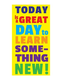 Motivational Learning Classroom Poster