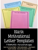 Motivational Letter Templates for Parents and Teachers - Test motivation