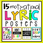 Motivational Lyric Posters