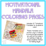 Motivational Mandala Coloring Pages