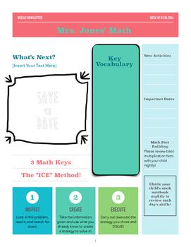 Motivational Math Newsletter